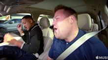 Will Smith and James Corden get jiggy in the 'Carpool Karaoke' Apple series debut