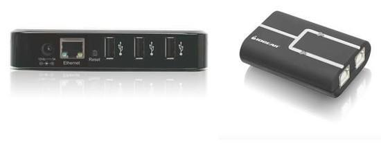 IOGEAR puts four USB devices on your network with USB Net ShareStation