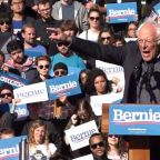 Sen. Bernie Sanders returns to campaign trail after heart attack