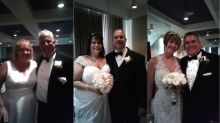 'We all kissed the bride at the same time': 3 brothers have triple wedding