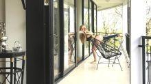 La rehabilitación ¡en tanga! de Graciela Alfano tras un insólito accidente