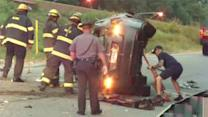 I-76 EB on ramp reopens after crash near Montgomery Ave. in Fairmount Park