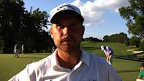 Travis Bertoni interview after Round 1 of Rex Hospital Open