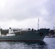 Russian navy ship sinks in Black Sea, all 78 crew rescued
