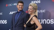 Michael Buble and pregnant wife steal the show on the Junos red carpet