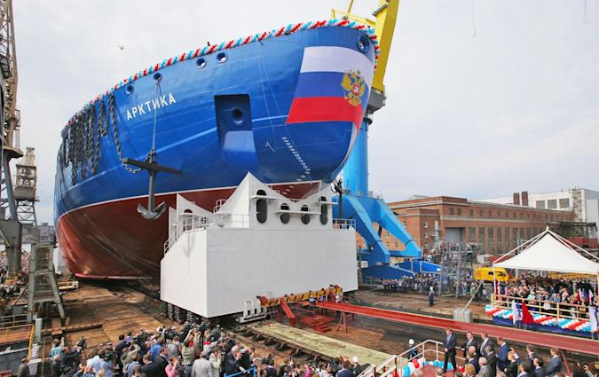 Russia debuts the largest ever nuclear icebreaker