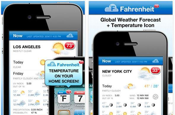 Weather app uses notifications to display info on home screen