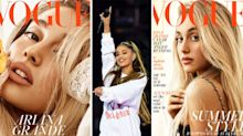 Ariana Grande is blonde, freckled and unrecognisable on the cover of British Vogue