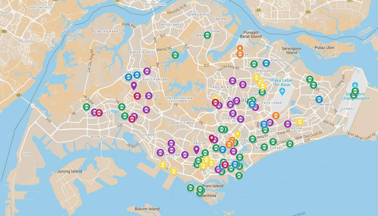 Covid 19 Here S Every Coronavirus Infection In Singapore On A Map
