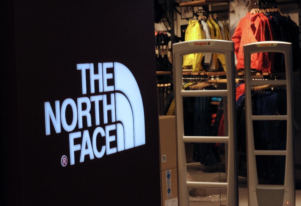 """Greenpeace said that hazardous chemicals were """"widely present"""" in a range of outdoor gear including brands like The North Face (AFP Photo/Eric Piermont)"""
