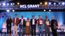 Recipients of HCL GRANT 2019 Felicitated by Amitabh Kant & Sourav Ganguly