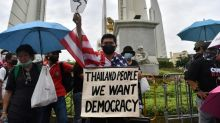 Protesters gather ahead of pro-democracy rally in tense Bangkok