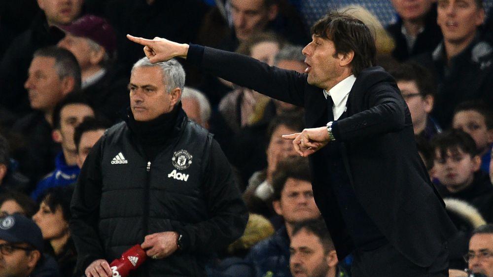 Antonio Conte José Mourinho Chelsea Manchester United Premier League 03132017