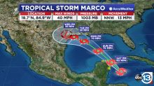 Hurricane center commits to 'Texas turn' for likely Tropical Storm Marco