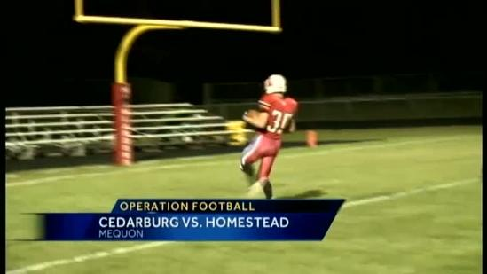 Op Football: Cedarburg vs Homestead