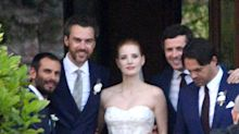 See Jessica Chastain's Gorgeous Wedding Dress