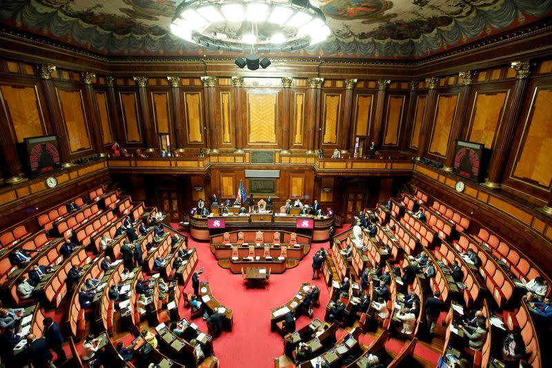 Italian Senate halts after two members test COVID-positive