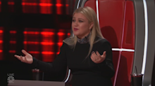 Broken and beautiful: Kelly Clarkson bravely returns to 'The Voice' just days after emergency surgery