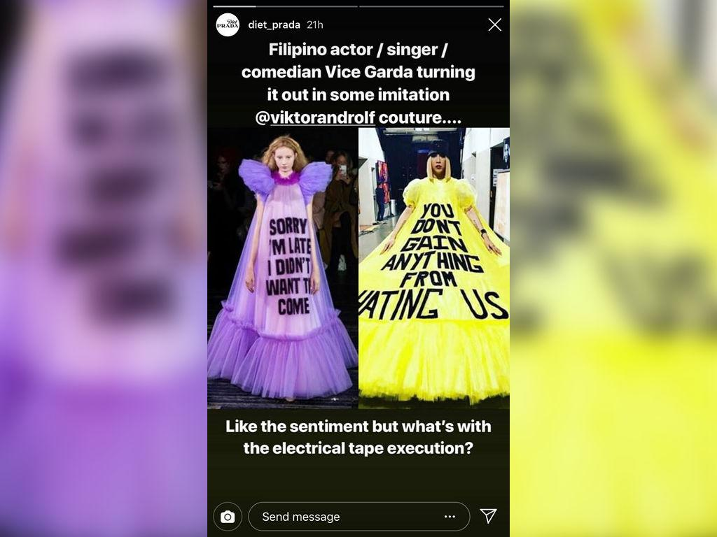 Diet Prada Calls Out Vice Ganda For Alleged Knock Offs