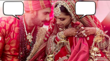 Caption this: What is Ranveer Singh telling Deepika Padukone?