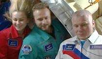 Russian crew returns from shooting the first feature film on the ISS