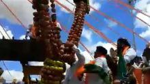 Karnataka Health Minister B Sriramalu Attends Mega Rally at Chitradurga in Complete Violation of Norms
