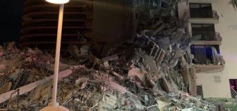 Multistory building near Miami Beach partially collapses