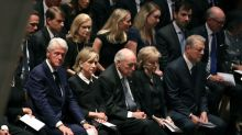 Former presidents, first ladies, and celebrities turn out to celebrate the life of John McCain