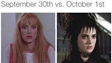 Happy early Halloween from queen of memes Winona Ryder