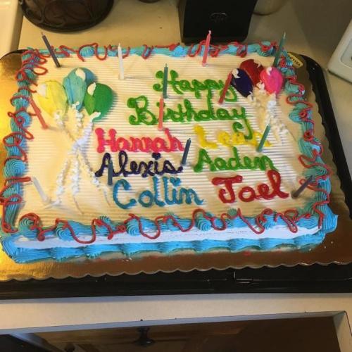 The Gosselin kids' birthday cake.