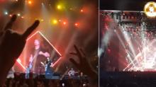 Cayó un meteorito durante un concierto de Foo Fighters y fue captado por las cámaras