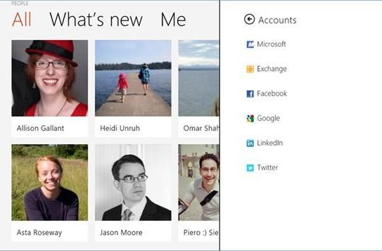Microsoft details the People app, its cloud-connected address book for Windows 8