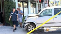 Pickup Truck Careens Into Car, Crashes Into Popular Restaurant