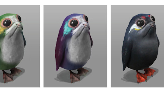 Colorful proto-porgs and other exclusive 'Star Wars: The Last Jedi' concept art