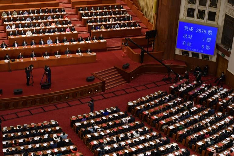 China's rubber-stamp parliament approved the draft of a new security law for Hong Kong on May 28, 2020