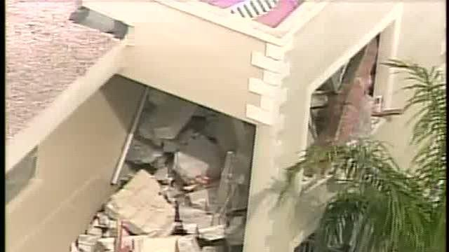 Partial roof collapse at Clearwater retirement condo