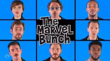 'The Avengers' cast parodies 'The Brady Bunch' theme song