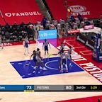 Delon Wright with an and one vs the Philadelphia 76ers