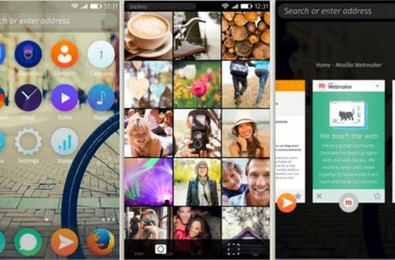 Firefox OS' new interface looks both very modern and very familiar