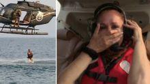 El salto flamenco de Isabel Pantoja: se tira del helicóptero hecha un mar de lágrimas