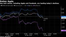 Apple, Facebook Lead Stocks Lower as Tech Crumbles: Markets Wrap