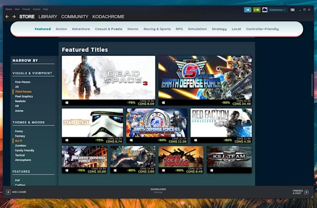 Valve adds a new way to filter for discounts during Steam sales