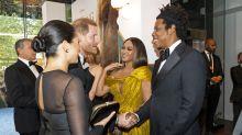Beyoncé se emociona ao conhecer Meghan Markle em premiere de 'O Rei Leão': 'Minha princesa'