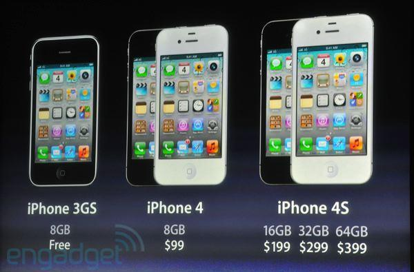 Apple drops iPhone prices: 8GB 3GS free, iPhone 4 now $99