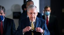 Mitch McConnell says an economic stimulus package is 'unlikely in the next 3 weeks' as the White House renews its push for aid