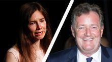 Piers Morgan and Amanda Knox in furious spat over interview snub