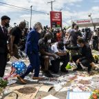 Burned flags and curfews: US cities convulsed by unrest