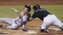 Thompson earns 1st major league win, Marlins beat Braves 4-2