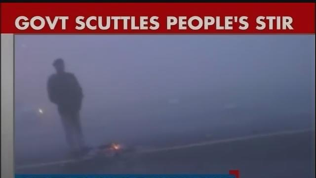 Govt scuttles people's stir against gangrape, protesters evacuated from Vijay Chowk Part-1