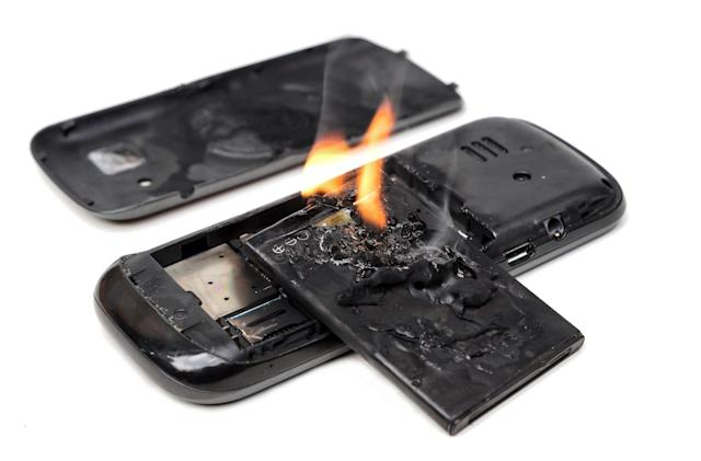 Batteries with built-in flame retardant could prevent fiery mishaps